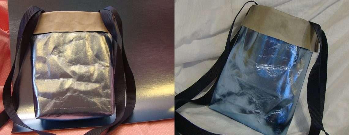 Prezent na DZIEŃ DZIECKA. Niebieska torebka z WASHPAPY / Washable Kraft Paper LAMINA +