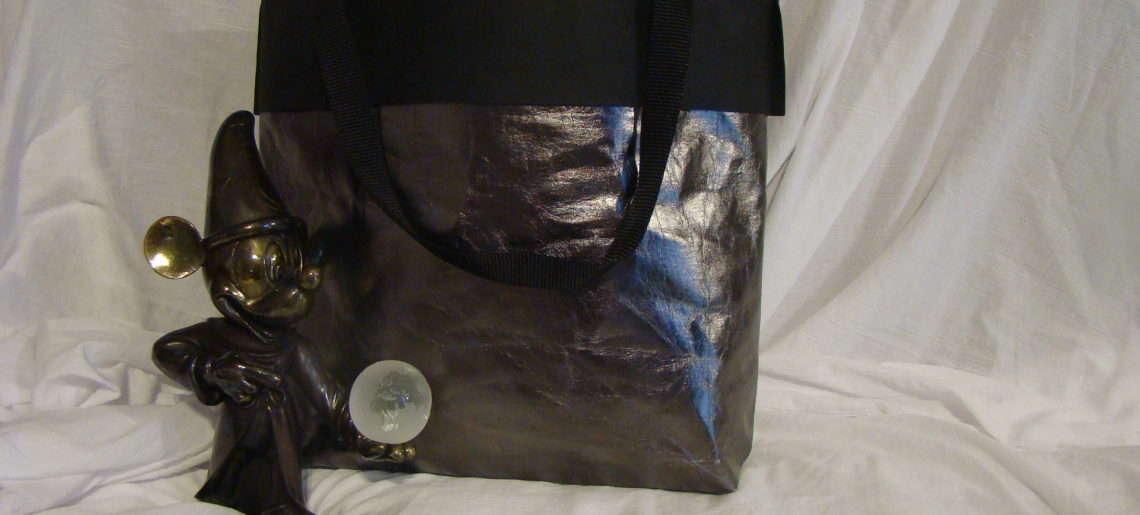 Duża torba z WASHPAPY / washable kraft paper SHINE CYNA model JOLA
