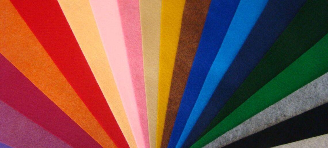 Filc dekoracyjny kolorowy